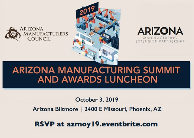 Register for the 2019 Arizona Manufacturing Summit & Awards Luncheon