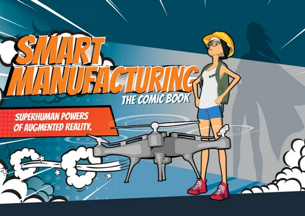 Smart Manufacturing Comic Book Tells Superhero Story with App and Augmented Reality